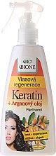 Düfte, Parfümerie und Kosmetik Regenerationsspray für strapaziertes Haar - Bione Cosmetics Keratin + Argan Oil Hair Regeneration With Panthenol