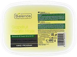 Paraffinmaske für Hände, Gesicht und Dekolleté mit Grapefruit, Bienenwachs und Mandelöl - Bielenda Professional Grapefruit Paraffin Mask Beeswax & Almond Oil — Bild N1