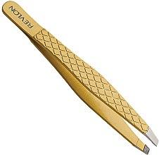 Düfte, Parfümerie und Kosmetik Pinzette schräg - Revlon Gold Series Slant Tweezers