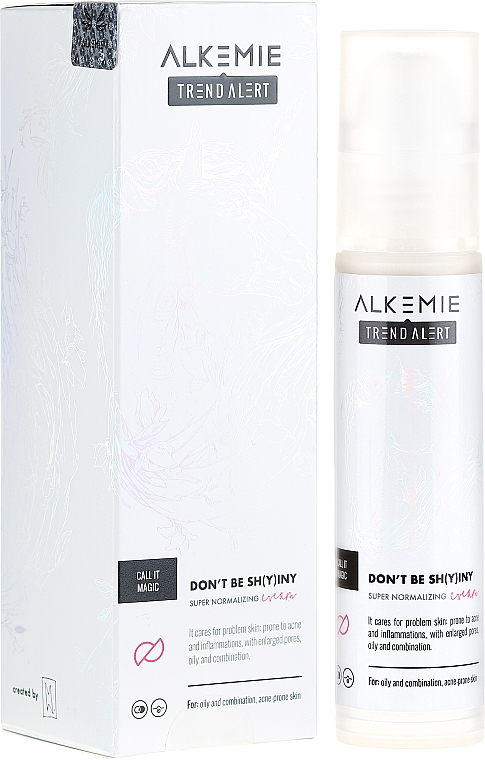 Normalisierende Gesichtscreme - Alkemie Call It Magic Don't Be Shying Super Normalizing Cream