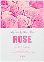 Düfte, Parfümerie und Kosmetik Tuchmaske für Gesicht mit Rosen- und Kamillenextrakt - A'Pieu My Skin-Fit Sheet Mask Rose