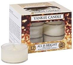 Düfte, Parfümerie und Kosmetik Teelichter-Kerzen - Yankee Candle Scented Tea Light Candles All is Bright