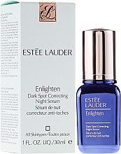 Düfte, Parfümerie und Kosmetik Ausgleichendes Gesichtsserum gegen Pigmentflecken für die Nacht - Estee Lauder Enlighten Dark Spot Correcting Night Serum