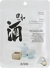 Düfte, Parfümerie und Kosmetik Tuchmaske für das Gesicht mit Sake-Extrakt - Mitomo Sake Essence Mask