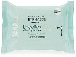 Düfte, Parfümerie und Kosmetik Reinigunstücher zur Make-up Entfernung mit Aloe Vera 20 St. - Byphasse Aloe Vera Make-up Remover Wipes Sensitive Skin