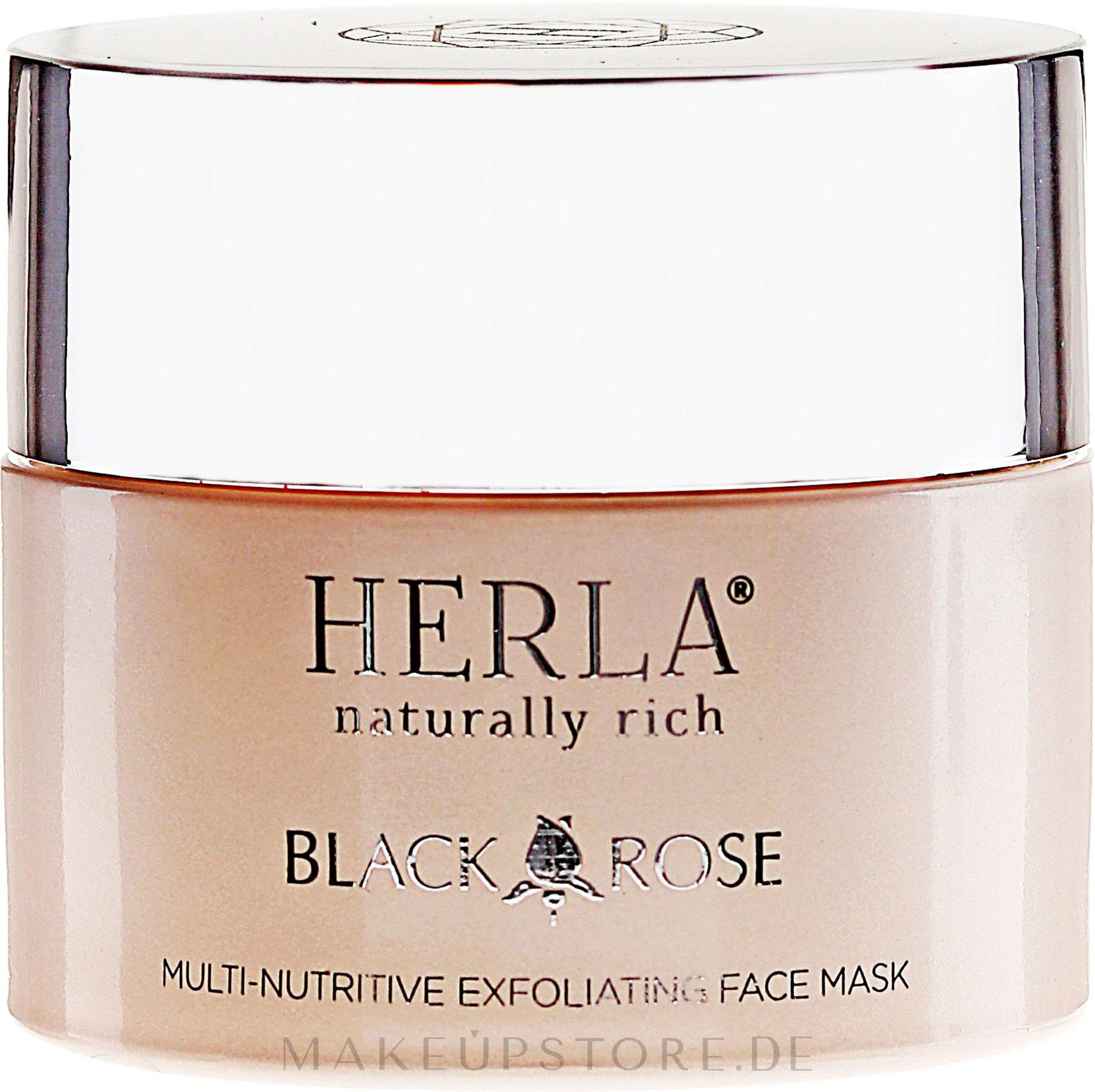 Tonisierende Peelingmaske für das Gesicht - Herla Black Rose Multi-Nutritive Exfoliating Face Mask — Bild 50 ml