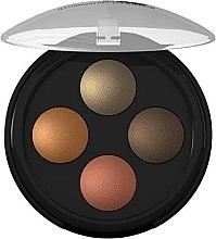 Düfte, Parfümerie und Kosmetik Lidschatten - Lavera Illuminating Eyeshadow Quattro