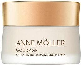 Düfte, Parfümerie und Kosmetik Regenerierende Gesichtscreme - Anne Moller Goldage Extra Rich Restorative Cream SPF15