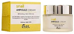 Düfte, Parfümerie und Kosmetik Anti-Falten Gesichtscreme mit Schneckenschleim - Ekel Snail Ampoule Whitening Anti-Wrinkle Cream