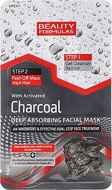 Peel-Off-Maske mit Aktivkohle - Beauty Formulas Charcoal Absorbing Face Mask — Bild N1