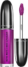 Düfte, Parfümerie und Kosmetik Flüssiger Lippenstift mit einem matt-metallischen Effekt - M.A.C Retro Matte Liquid Lipcolour Metallics