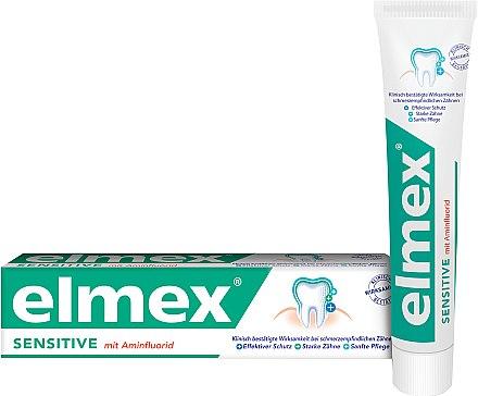 Zahnpasta mit Aminfluorid für empfindliche Zähne - Elmex Sensitive Toothpaste — Bild N1