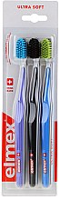 Düfte, Parfümerie und Kosmetik Zahnbürste ultra weich violett, schwarz, blau 3 St. - Elmex Swiss Made