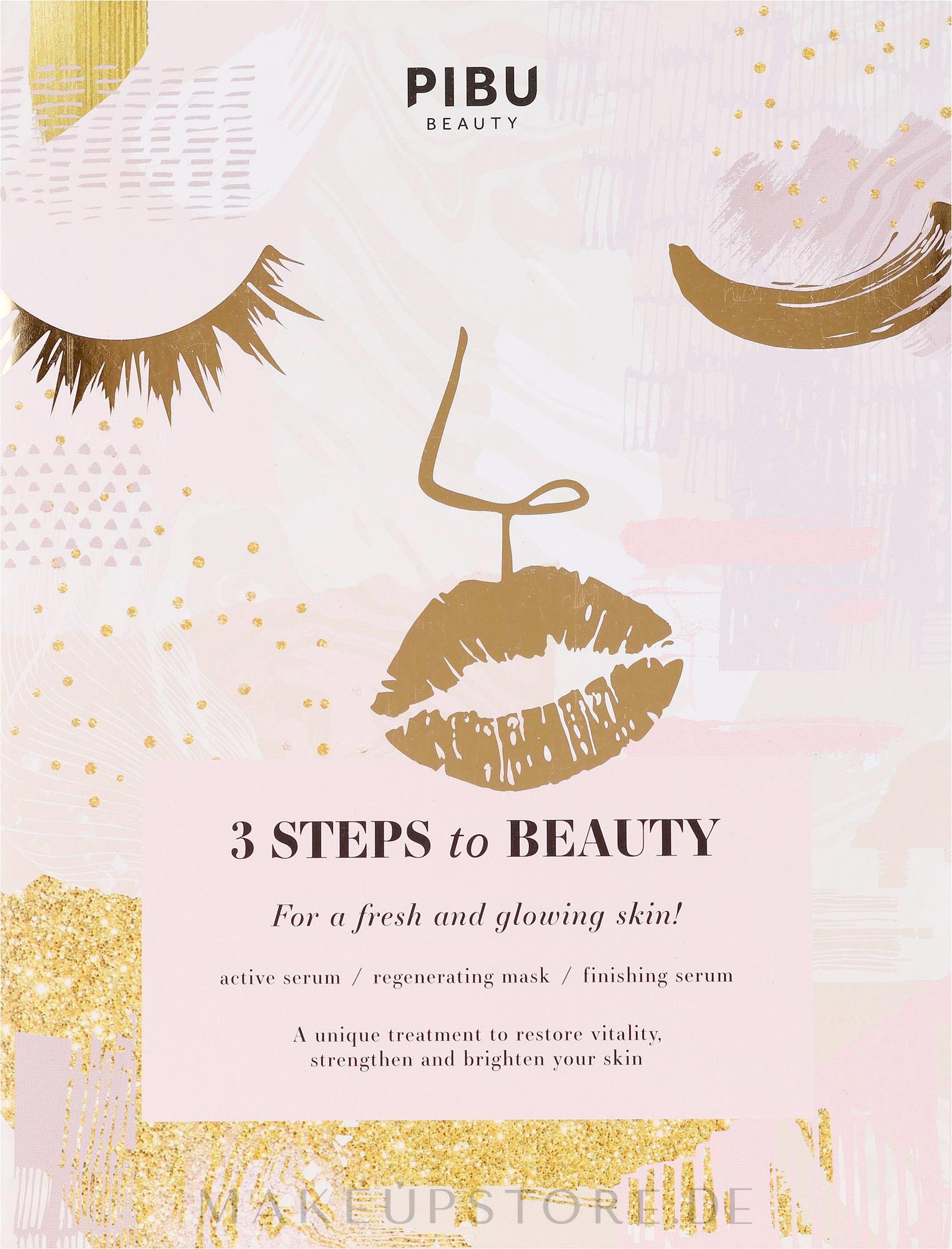 Regenerierende Gesichtsmaske - Pibu Beauty 3 Steps To Beauty Mask — Bild 30 ml