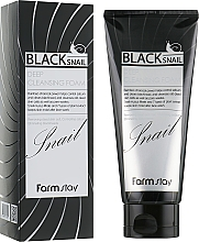 Düfte, Parfümerie und Kosmetik Tiefreinigender Gesichtsschaum mit Extrakt aus schwarzer Schnecke - FarmStay Black Snail Deep Cleansing Foam