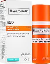 Düfte, Parfümerie und Kosmetik Sonnenschutzgel-Creme gegen Pigmentflecken für gemischte und fettige Gesichtshaut SPF 50+ - Bella Aurora Sunscreen Gel Oily Skin SPF 50+