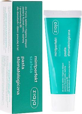 Zahnpasta mit natürlichem Salbeiextrakt und Fluorid - Ziaja Mintperfect — Bild N1