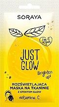 Düfte, Parfümerie und Kosmetik Tuchmaske für Gesicht mit Vitamin C - Soraya Just Glow