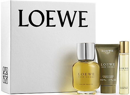 Loewe Loewe Pour Homme - Duftset ( Eau de Toilette/100ml + After Shave Balsam/50ml + Eau de Toilette/20ml) — Bild N1