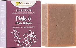 Düfte, Parfümerie und Kosmetik Bio Seife mit Myrte & Rote Traube für reifere und anspruchsvolle Haut - La Saponaria Bio Sapone