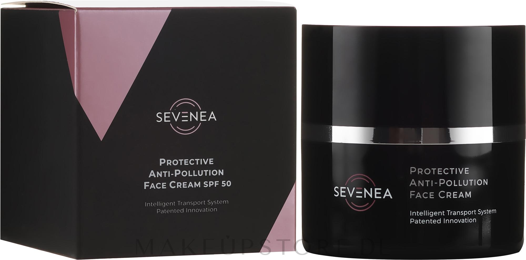 Schützende Anti-Falten Gesichtscreme mit Vitaminen SPF 50 - Sevenea Protective Anti-Pollution Face Cream SPF50 — Bild 50 ml