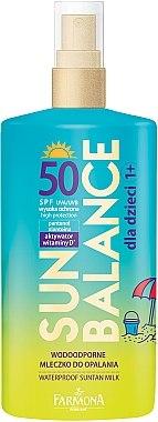 Wasserfeste Sonnenschutzmilch für Kinder SPF 50 - Farmona Sun Balance SPF50 — Bild N1