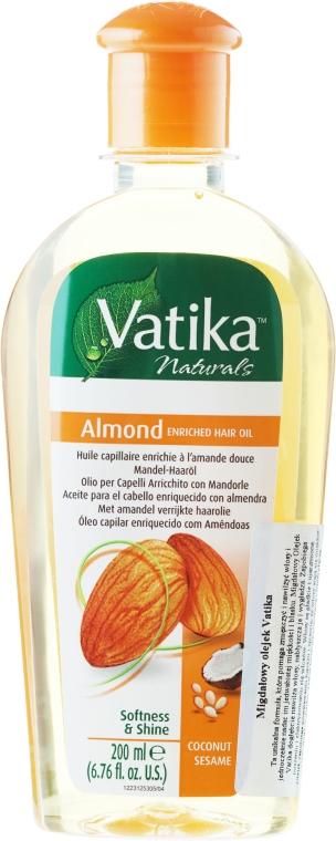Mandel-Haaröl - Dabur Vatika Almond Enriched Hair Oil — Bild N1