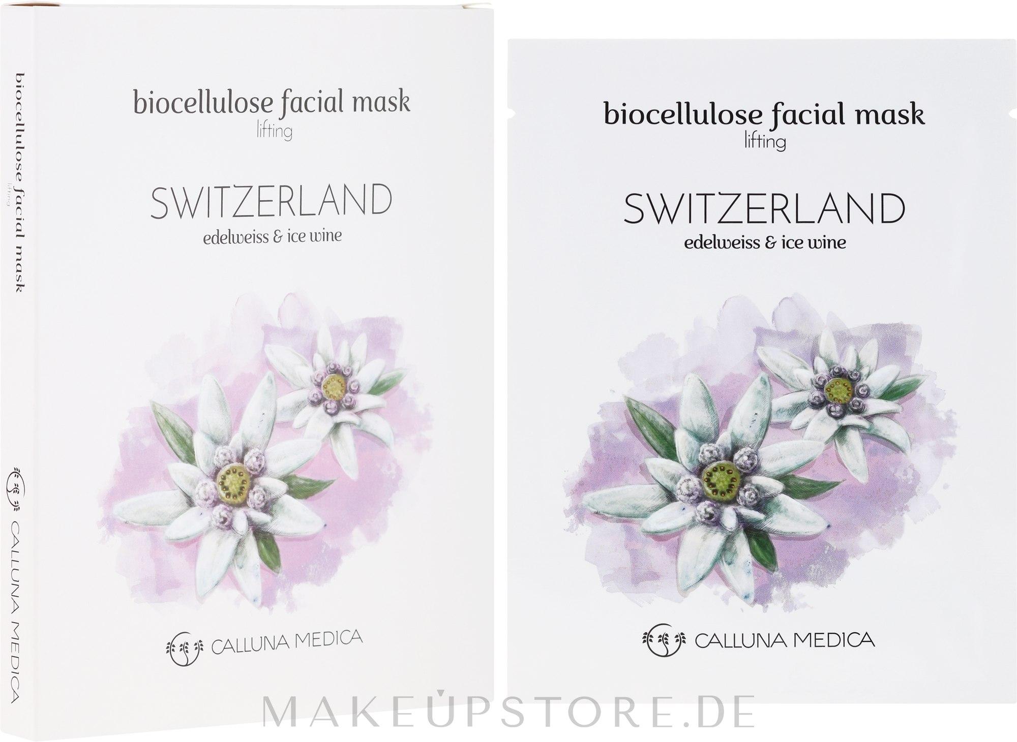 Tuchmaske für das Gesicht mit Lifting-Effekt Schweiz - Calluna Medica Switzerland Lifting Biocellulose Facial Mask — Bild 12 ml