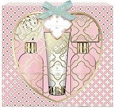 Düfte, Parfümerie und Kosmetik Körperpflegeset - Baylis & Harding Pink Prosecco & Elderflower Set (Duschgel 300ml + Körperlotion 300ml + Seife 150g + Duschcreme 130ml + Badeschwamm 1 St.)