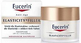 Düfte, Parfümerie und Kosmetik Stärkende Anti-Falten Tagescreme für mehr Elastizität SPF 15 - Eucerin Hyaluron-Filler + Elasticity Day SPF15 Cream