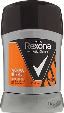 Deostick Antitranspirant - Rexona Men Motionsense Workout Hi-impact 48h Anti-perspirant — Bild N1