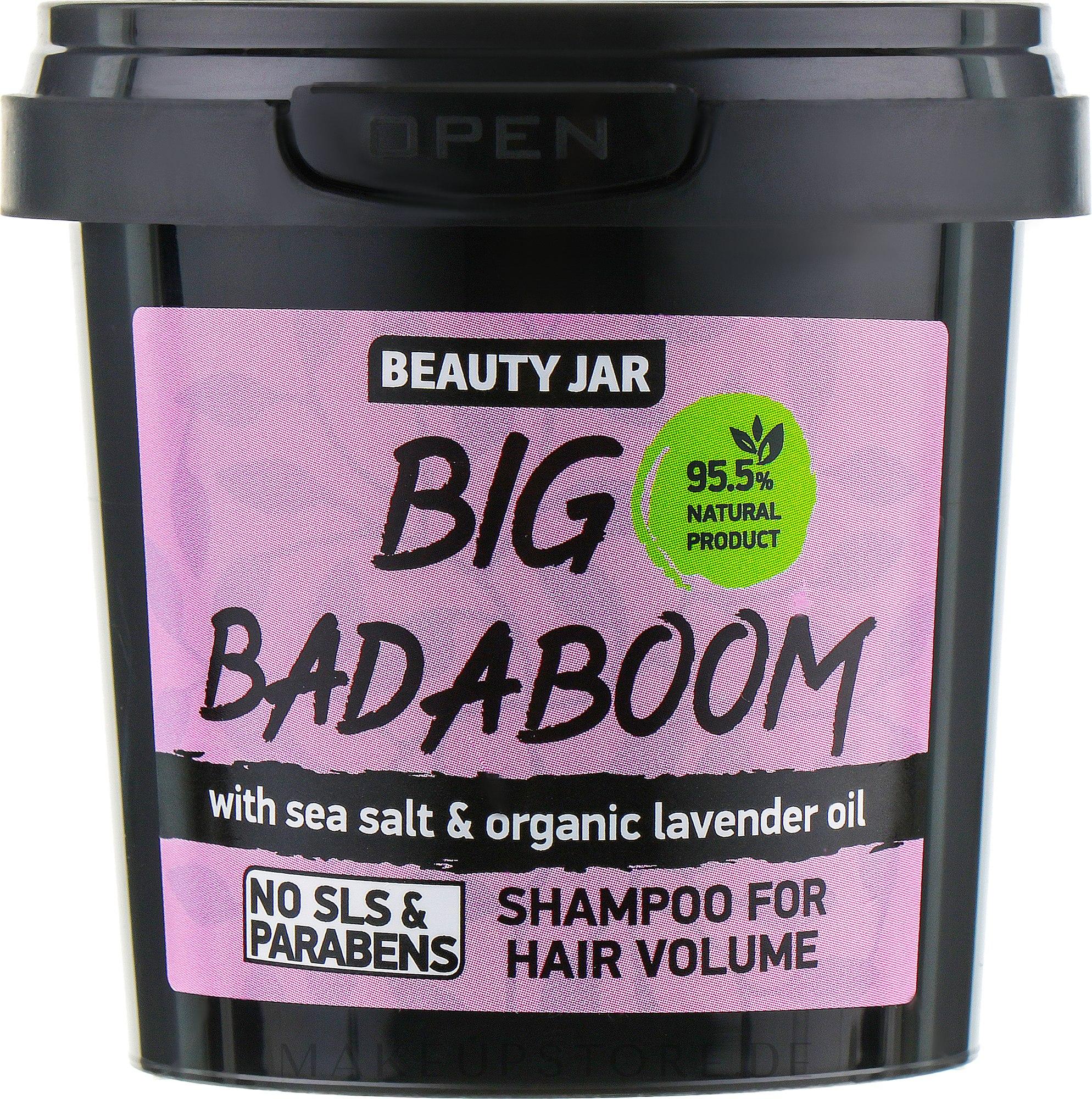 """Shampoo für mehr Volumen """"Big Badaboom"""" - Beauty Jar Shampoo For Hair Volume — Bild 150 g"""