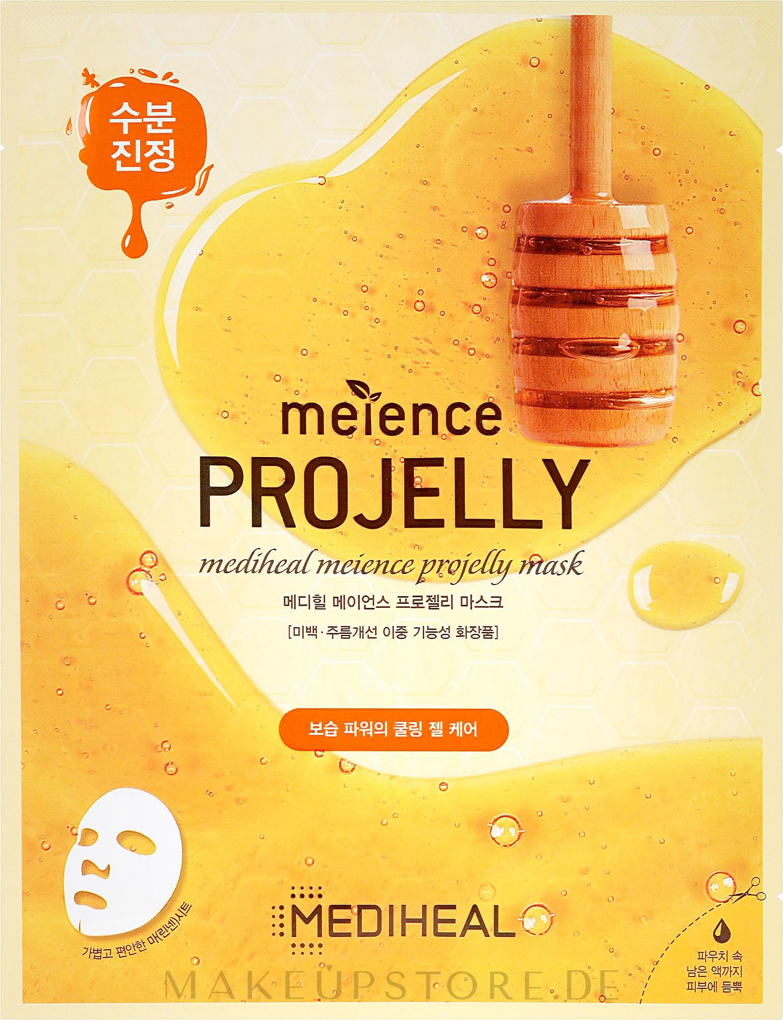 Tuchmaske für das Gesicht mit Propolis-Extrakt - Mediheal Meience Projelly Mask — Bild 25 ml