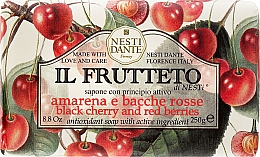 Düfte, Parfümerie und Kosmetik Naturseife Black Cherry & Red Berries - Nesti Dante Antioxidant & Protective Soap Il Frutteto Soap Collection