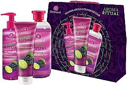 Düfte, Parfümerie und Kosmetik Körperpflegeset - Dermacol Aroma Ritual Grape & Lime (Duschgel 250ml + Flüssigseife 250ml + Badeschaum 500ml)