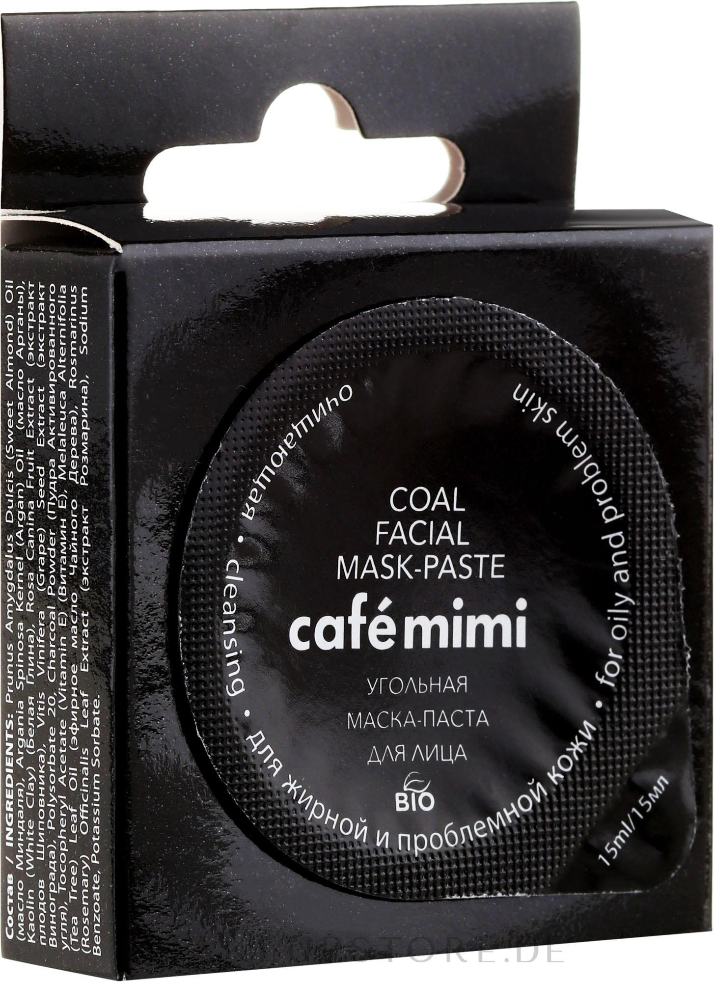 Reinigungsmaske mit Aktivkohle für fettige und problematische Haut - Cafe Mimi Coal Mask — Bild 15 ml