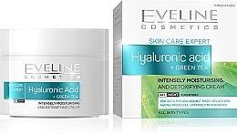 Düfte, Parfümerie und Kosmetik Feuchtigkeitsspendende Gesichtscreme mit Hyaluronsäure und grünem Tee - Eveline Cosmetics Skin Care Expert Hyaluronic Acid & Green Tea Cream