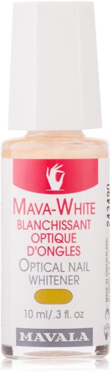 Nagellack zur optischen Aufhellung von Nägeln - Mavala Mava-White Optical Nail Whitener — Bild N1