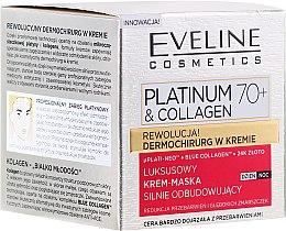 Düfte, Parfümerie und Kosmetik Gesichtscreme-Maske - Eveline Cosmetics Platinum & Collagen Luxury Cream-Mask
