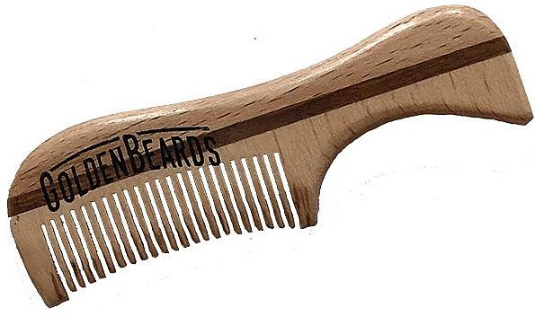 Schnurrbartkamm aus Öko-Holz 9,5 cm - Golden Beards Eco Moustache Comb — Bild N1