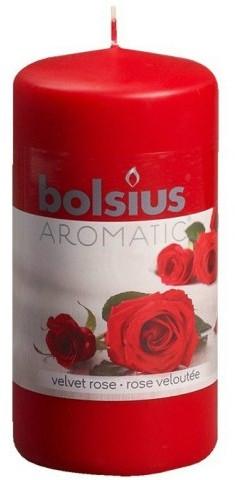 Stumpenkerze mit Samtrosenduft - Bolsius Aromatic Candle 120 mm x Ø60 mm — Bild N1