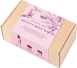 Düfte, Parfümerie und Kosmetik Gesichtspflegeset - Veoli Botanica Ritual Box Beauty Must Haves (Tagescreme 60 ml+Nachtcreme 60 ml+Reinigungsemulsion 200 ml)