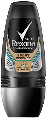 Deo Roll-On Antitranspirant - Rexona Sport Defence Deodorant Roll-On  — Bild N1
