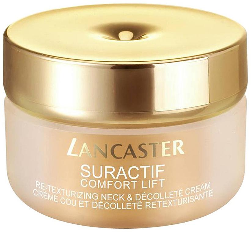 Intensiv pflegende Anti-Aging Creme für Hals und Dekolleté - Lancaster Suractif Comfort Lift Neck Decollete Cream — Bild N1