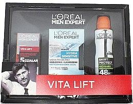Düfte, Parfümerie und Kosmetik Pflegeset für Männer - L'Oreal Paris Men Expert Vita Lift Hydra Sensitive (Creme 50ml + After Shave Lotion 100ml + Deospray 150ml)