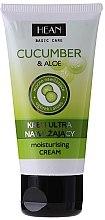 Düfte, Parfümerie und Kosmetik Intensiv feuchtigkeitsspendende Gesichtscreme mit Gurke und Aloe - Hean Basic Care Cocumber&Aloe Moisturizing Cream Tube