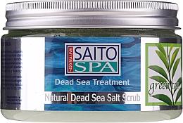 Düfte, Parfümerie und Kosmetik Salzpeeling für den Körper mit Grünteeduft und Meersalz - Saito Spa Aalt Body Scrub Green tea