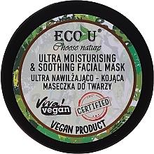 Düfte, Parfümerie und Kosmetik Beruhigende und feuchtigkeitsspendende Gesichtsmaske - Eco U Choose Nature Ultra Moisturing & Soothing Face Mask