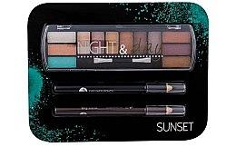 Düfte, Parfümerie und Kosmetik Make-up Set (Lidschatten 8,16g + Kajalstift 2x0,6g) - Cosmetic 2K Night & Day