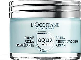 Intesiv feuchtigkeitsspendende Gesichtscreme mit Quellenwasser und Hyaluronsäure - L'Occitane Aqua Reotier Acial Ultra Hidratante — Bild N1